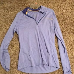 Nike purple livestrong quarter zip